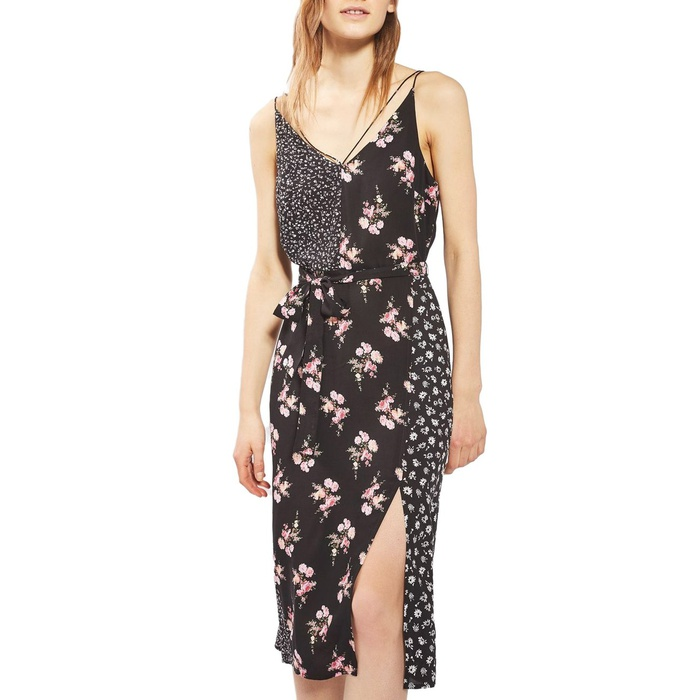 Best Spring Dresses Under $100 - Topshop Patchwork Floral Midi Slipdress