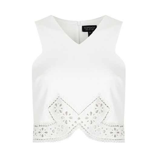Best Midsummer Crop Tops - Topshop Pretty Lace Trim Crop Top