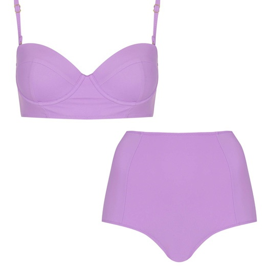Best Lilac Bests - Topshop Retro Two Piece