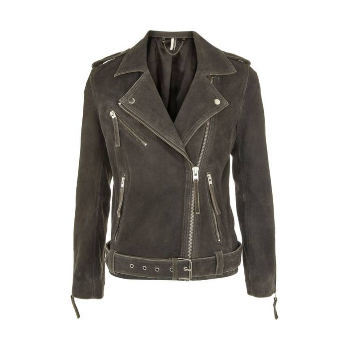 Best Fall Fashion Finds on Sale - Topshop Moon Suede Biker Jacket