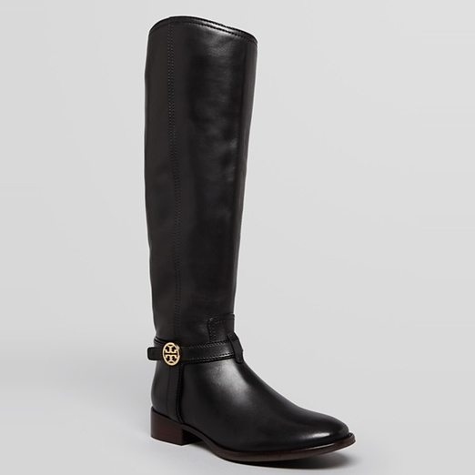 Best Black Riding Boots - Tory Burch Bristol Harness Flat Boot