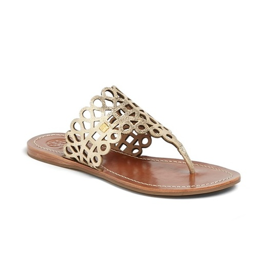 Best Thong Sandals - Tory Burch Davy Metallic Flat Thong Sandal