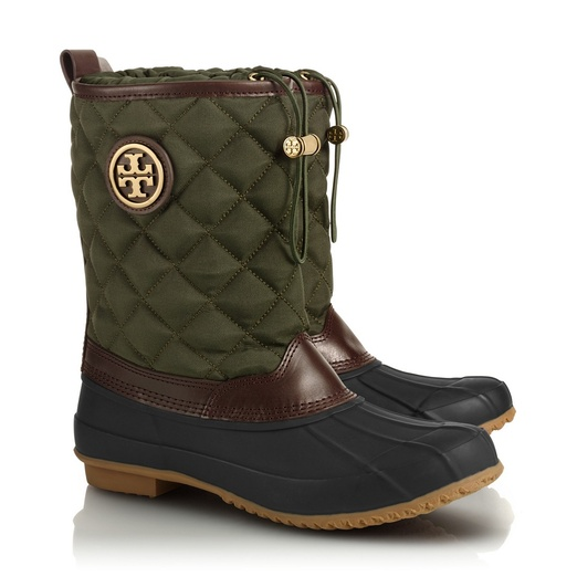 Tory Burch Denai Quilted Rain Boot | Rank & Style