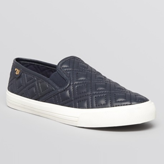 Best Slip On Sneakers - Tory Burch Flat Slip On Sneakers - Jesse Quilted