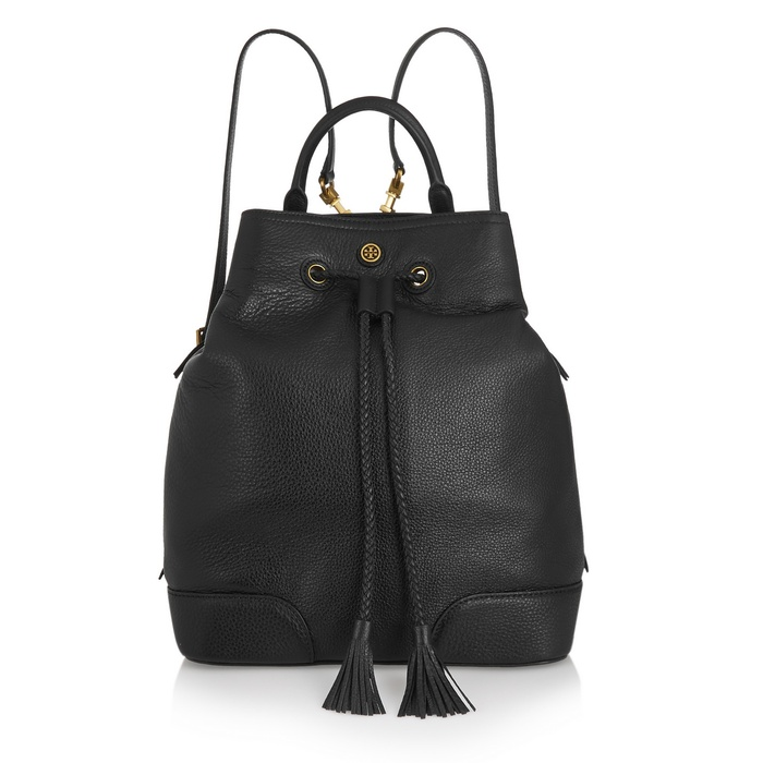 Best Trending Backpacks - Tory Burch Frances Textured-Leather Backpack