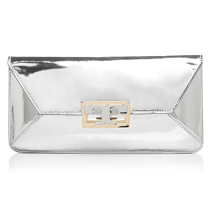 Best Bridal Handbags - Tory Burch Gigi Metallic Leather Clutch