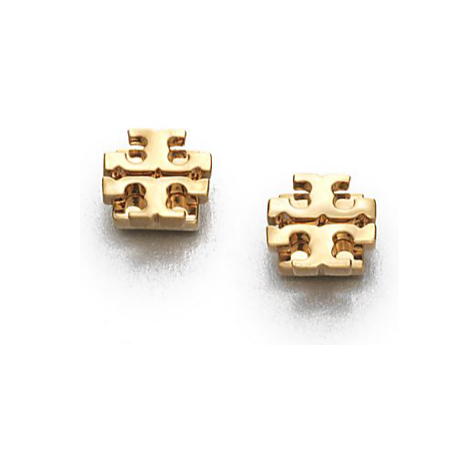 Best Stud Earrings - Tory Burch Goldtone Logo Stud Earring