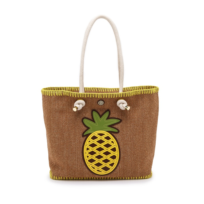 Best Ten Summer Musts for the Beach - Tory Burch Knotted Pineapple Tote