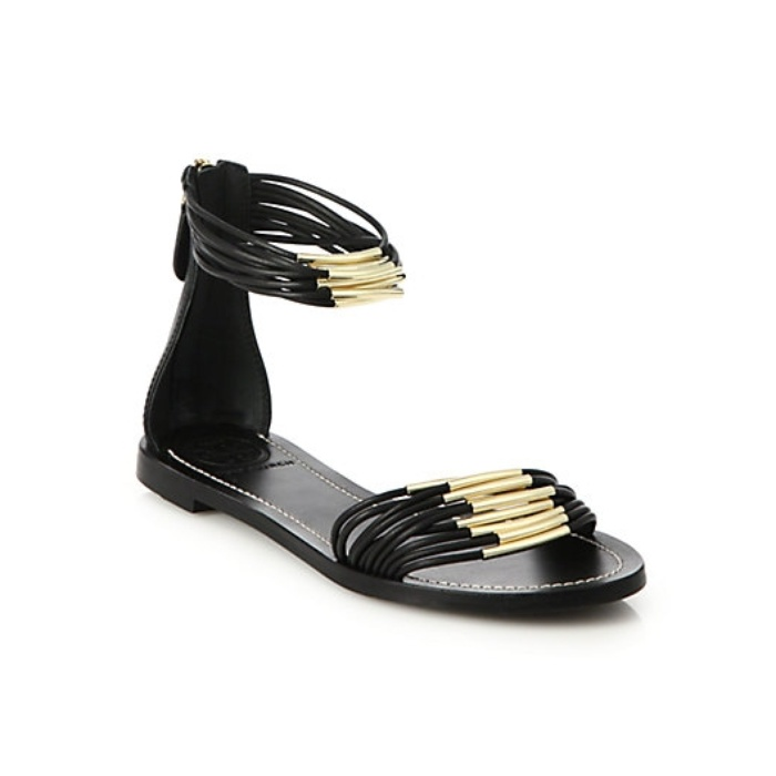 Best Winter Beach Break Shoes - Tory Burch Mignon Metal-Tube Multi-Strand Sandals