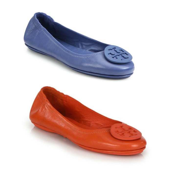 Best This Year's Best Mother's Day Gifts - Tory Burch Minnie Travel Leather Ballet Flats