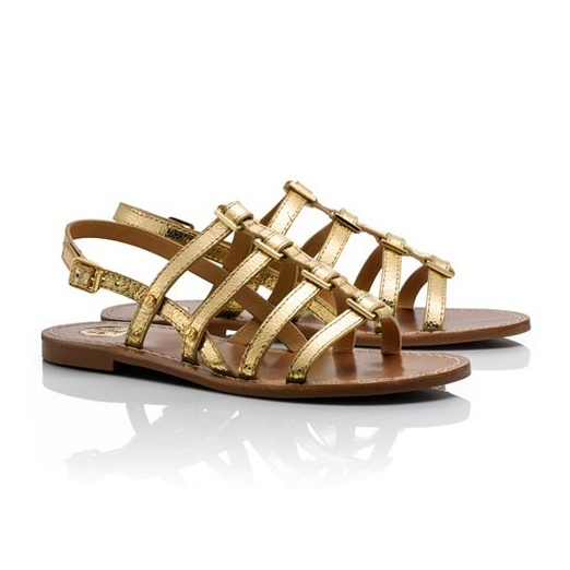 Best Flat Gladiator Sandals - Tory Burch Reggie Metallic Flat Sandals