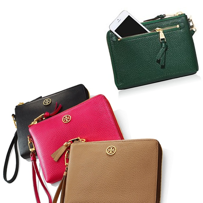 Best Best Clutches & Small Leather Accessories - Tory Burch Robinson Large Pebbled Wristlet