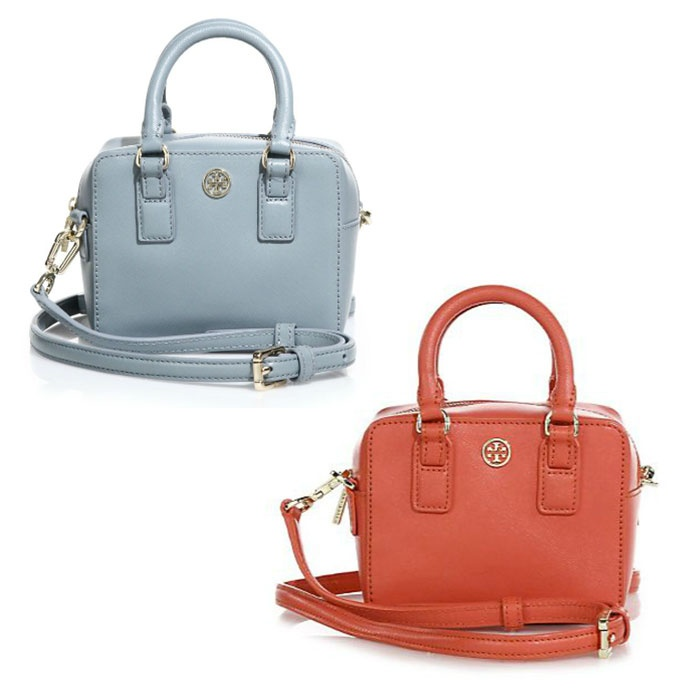 Best Mini Cross Body Bags Under $250 - Tory Burch Robinson Shrunken Boxy Saffiano Leather Satchel
