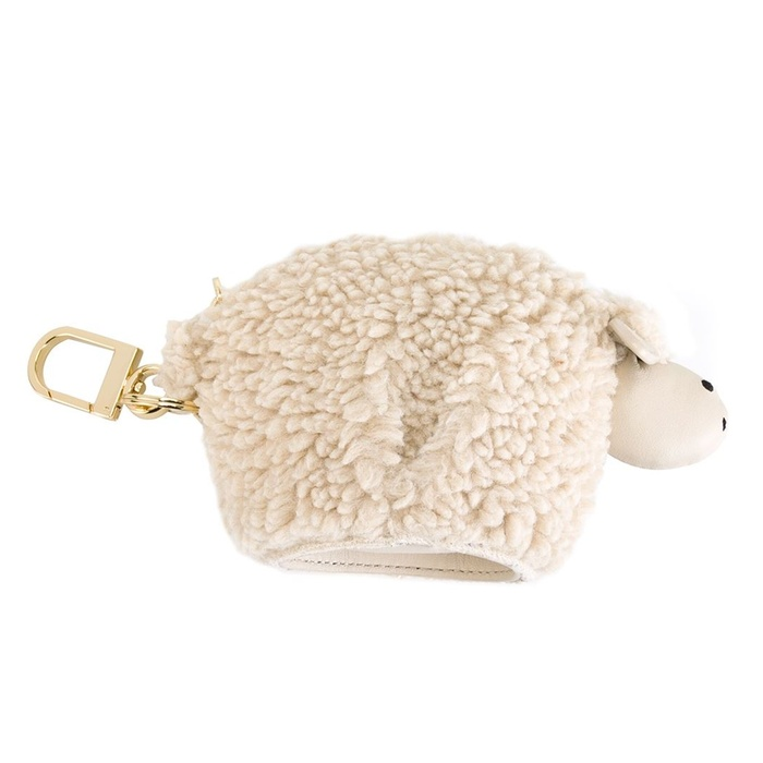 Best Handbag Charms - Tory Burch Sheep Motif Keyring Pouch