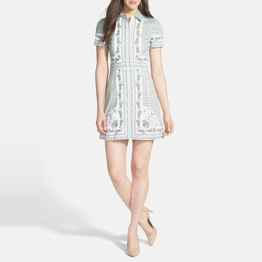 Best Shirt Dresses - Tory Burch Talia Poplin Shirtdress