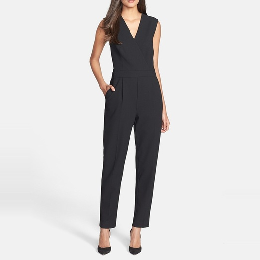 Best Black Sleeveless Jumpsuits - Trina Turk 'Lindsay' Gabardine Jumpsuit