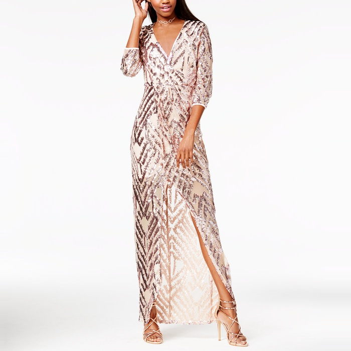 Best Prom Dresses Under $200 - Trixxi Sequin Wrap Gown