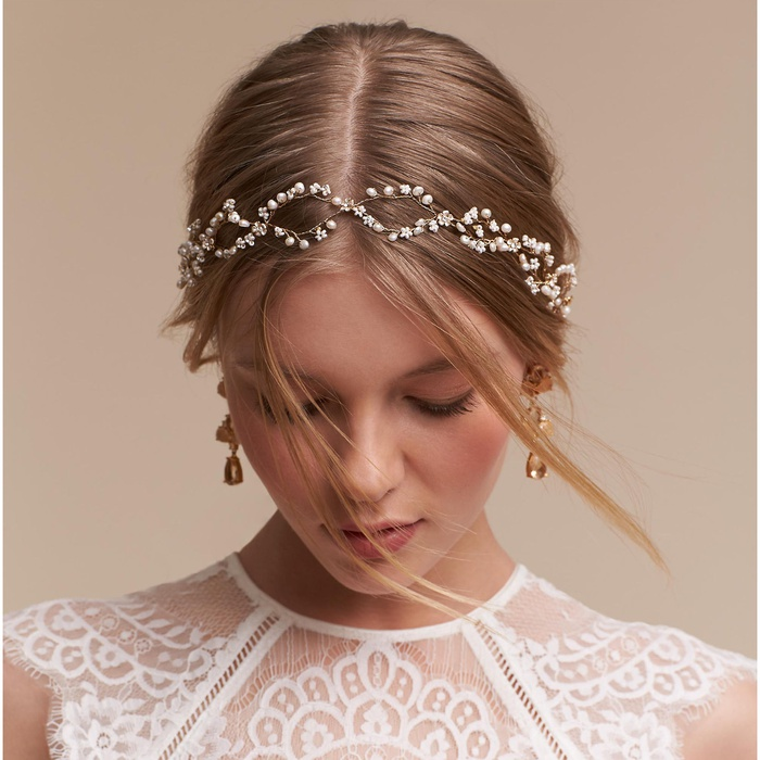 Best Bridal Hair Accessories - Twigs & Honey Pearldrop Halo