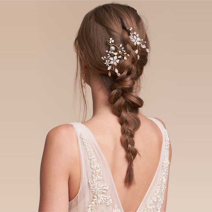 Best Bridal Hair Accessories - Twigs & Honey Winter Garden Combs