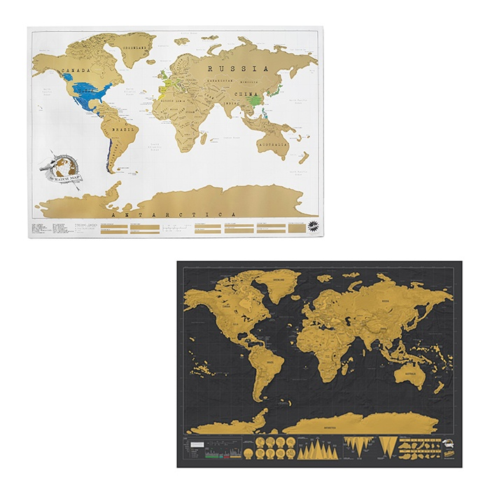 Best For the Frequent Flyer - Uncommon Goods Scratch Maps