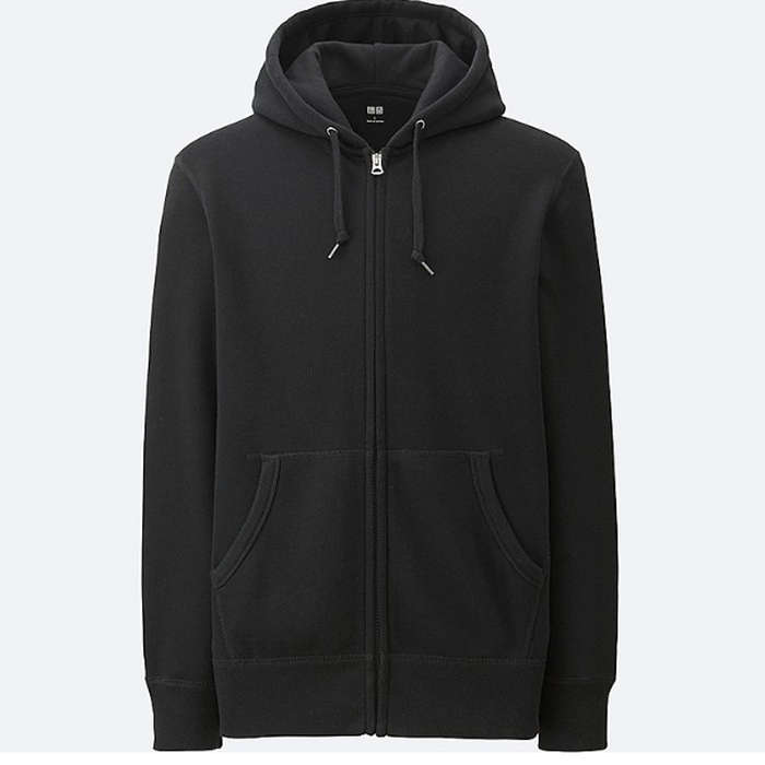 Best Men's Hoodies - Uniqlo Men Sweat Long Sleeve Full-Zip Hoodie