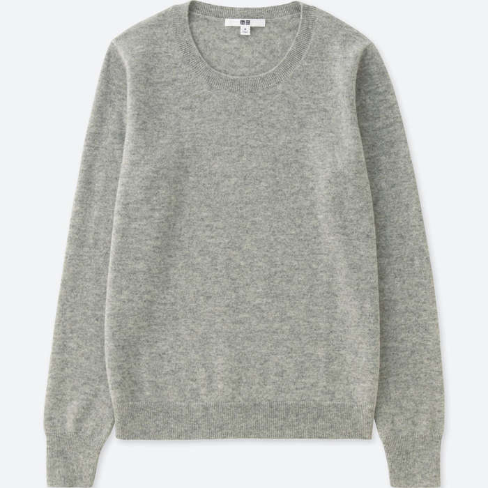 Best Women's Cashmere Sweaters Under $200 - Uniqlo Women Cashmere Crew Neck Sweater