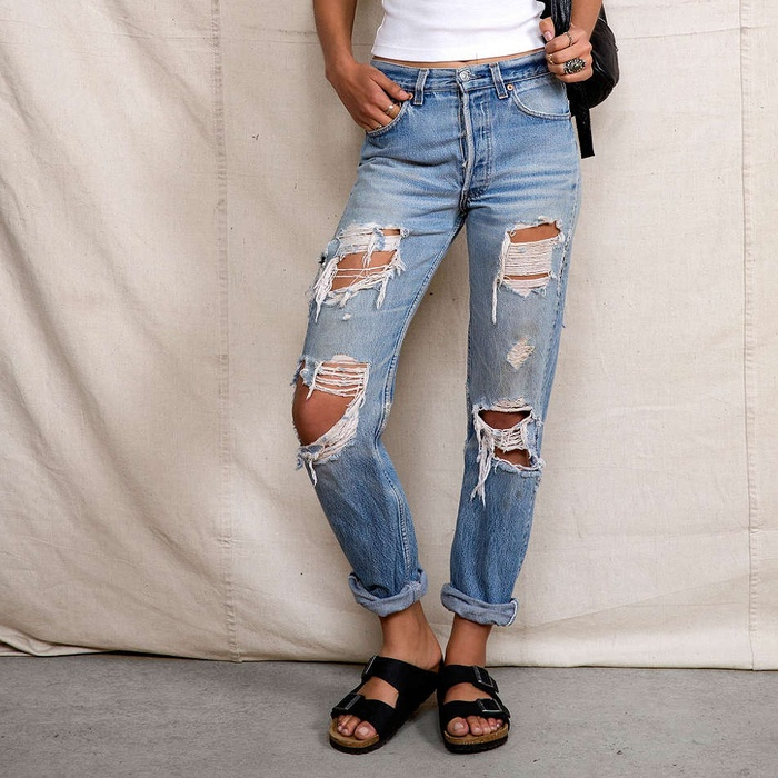 Urban Renewal Super-Destroyed Levi's Jean | Rank & Style