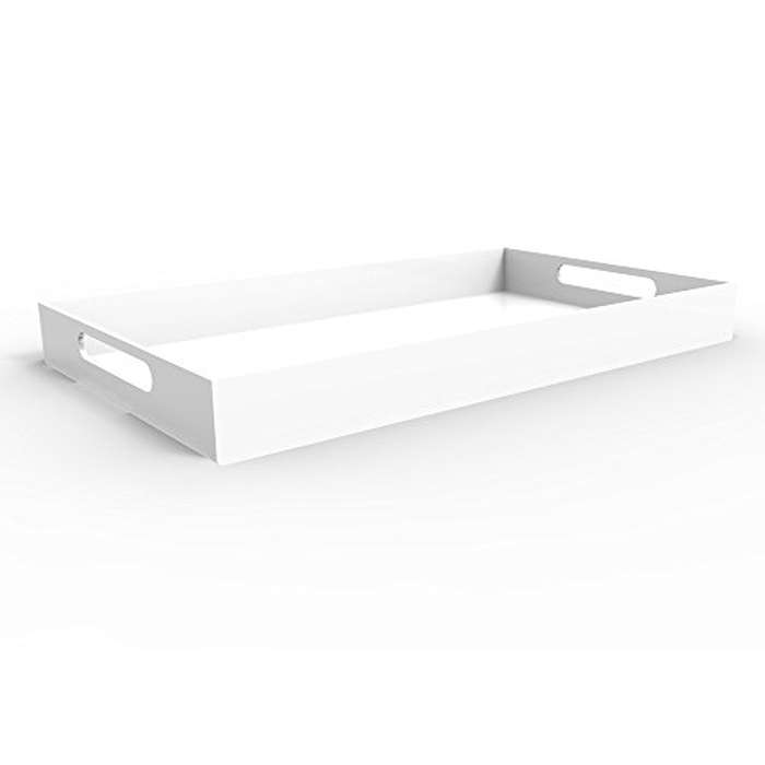 Best Guest Room Essentials - Vale Arbor White Serving Tray