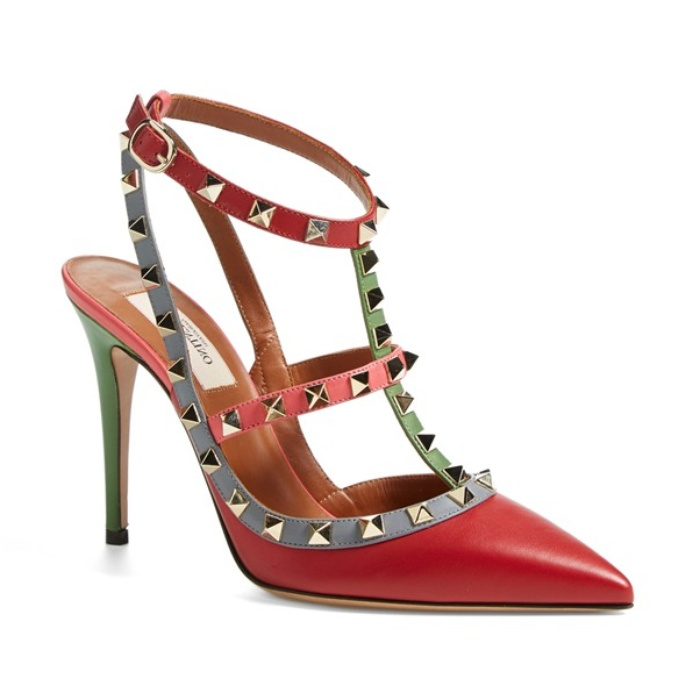 Best Pumps To Splurge On This Fall - Valentino Italian Pop Sling Leather Pumps