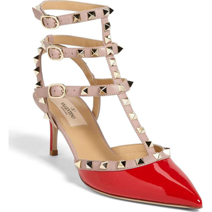 Best Kitten Heels - Valentino Rockstud Pointy Toe Pump