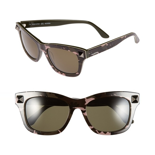 Best Sunglasses of All Shapes and Sizes for Spring - Valentino 'Rockstud' Retro Sunglasses