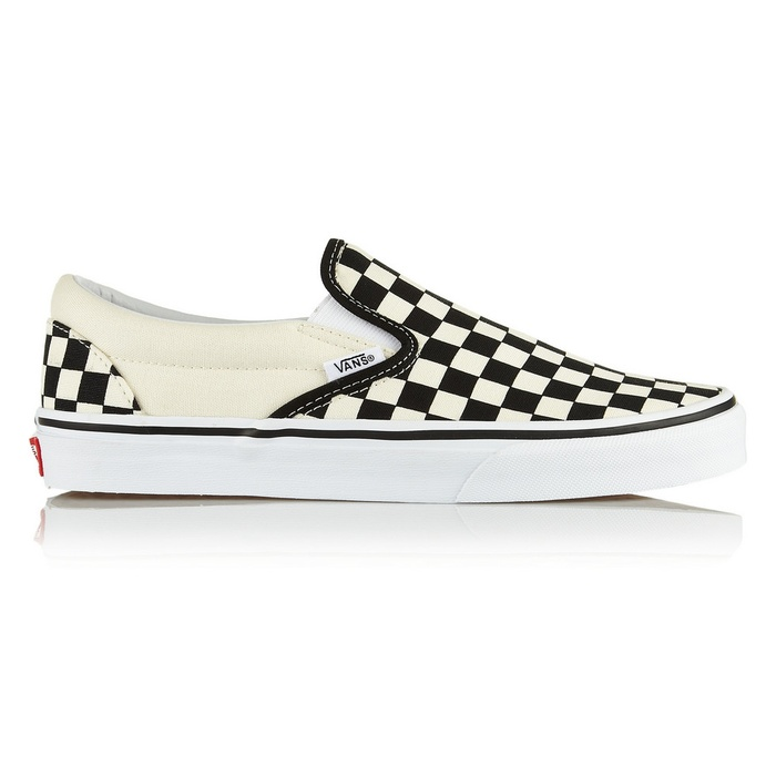 Best Slip On Sneakers - Vans Checked Canvas Slip-on Sneakers