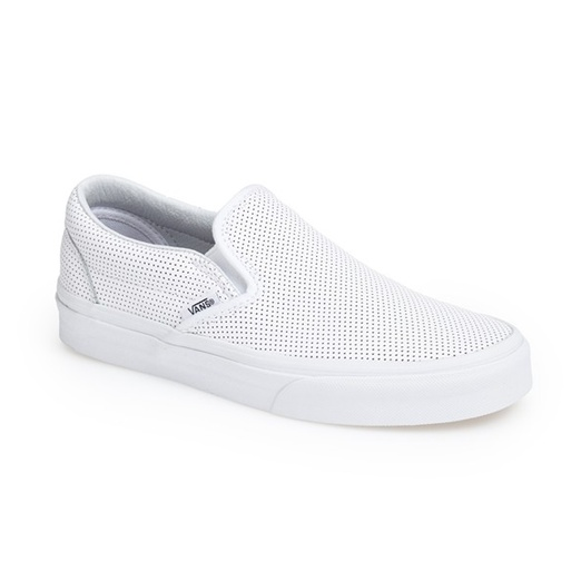 Best Stylish White Sneakers - Vans 'Classic' Perforated Slip-On Sneaker