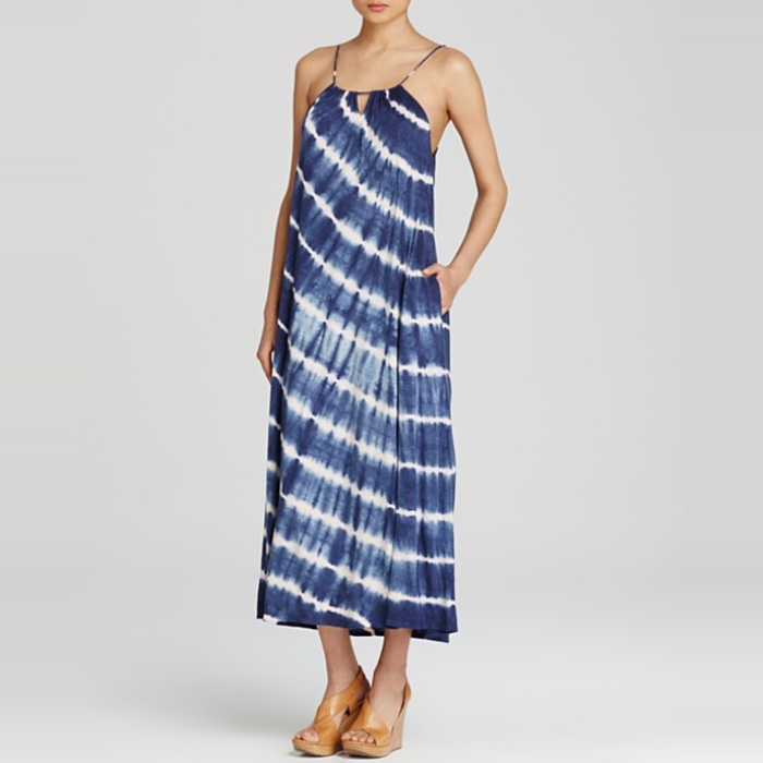 Best The Ten Best in Tie-Dye Fashion - Velvet by Graham & Spencer Tie Dye Maxi Dress