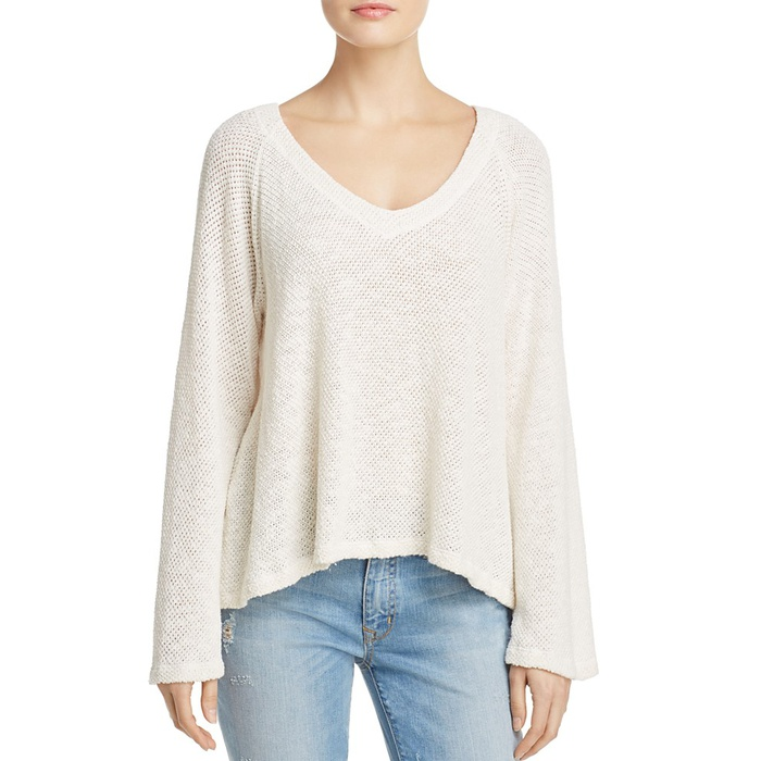 Best Lightweight Sweaters - Velvet by Graham & Spencer V-Neck Honeycomb Top