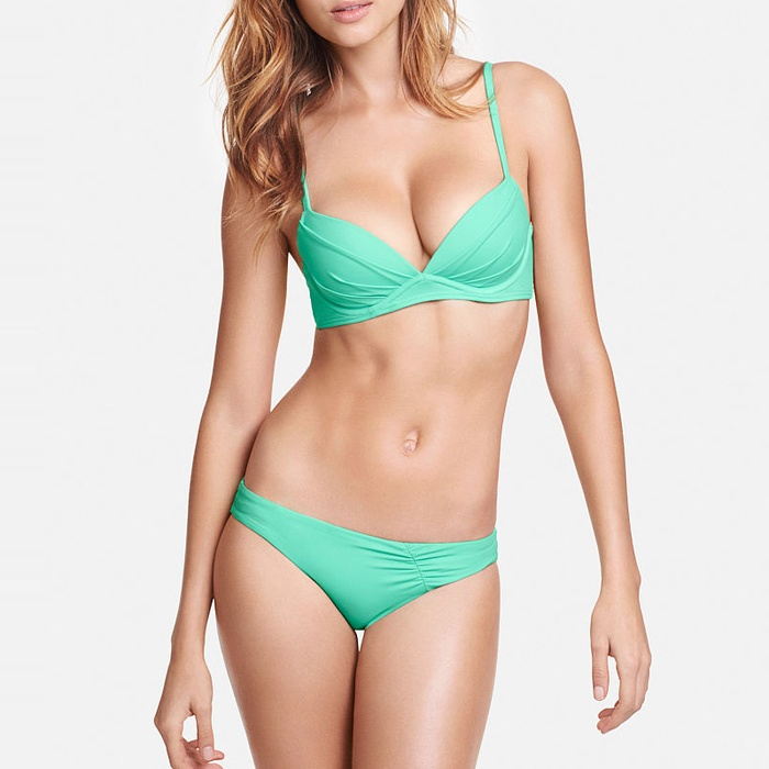 Best Two Piece Bathing Suits for D+ Cups - Victoria's Secret Angel Convertible Top & Unforgettable Bikini Bottom