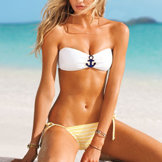 Best Nautical Inspired Bests - Victoria's Secret Nautical Bandeau Top