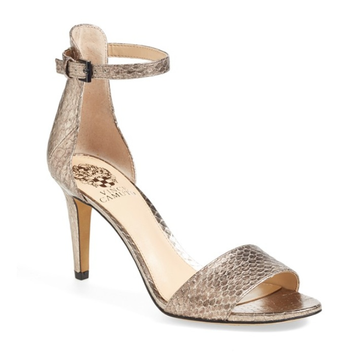 Best Comfortable Heels Under $100 for Weddings - Vince Camuto 'Court' Ankle Strap Sandal