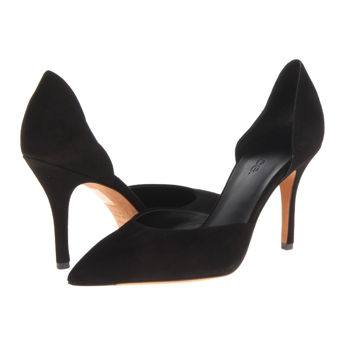 Best Black Suede Winter Pumps - Vince Celeste