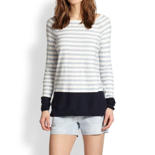 Best Memorial Day Weekend Musts - Vince Colorblock Striped Cotton Slub Top