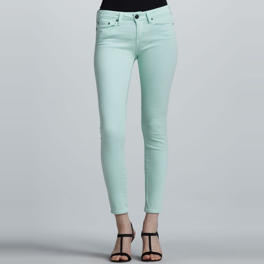 Best Bright Denim - Vince Denim Ankle Skinny Jeans