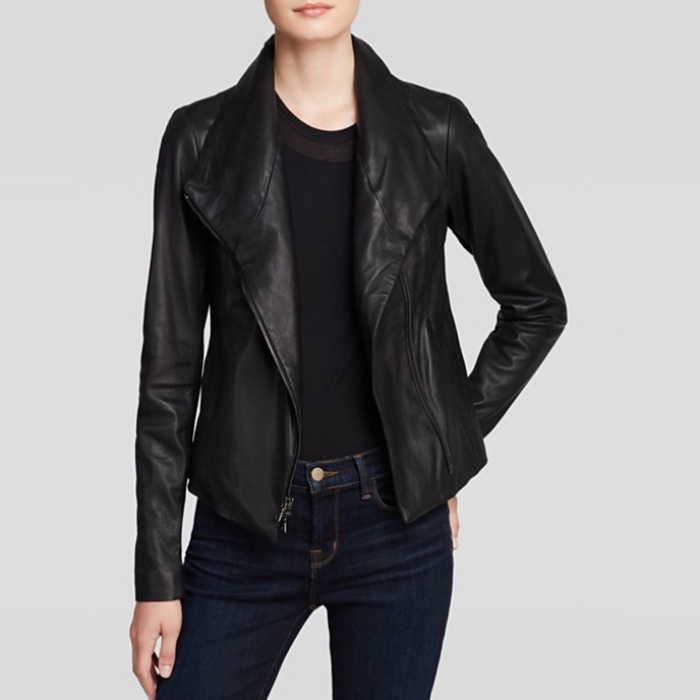 Best Moto Jackets - Vince Jacket Vintage Leather Scuba