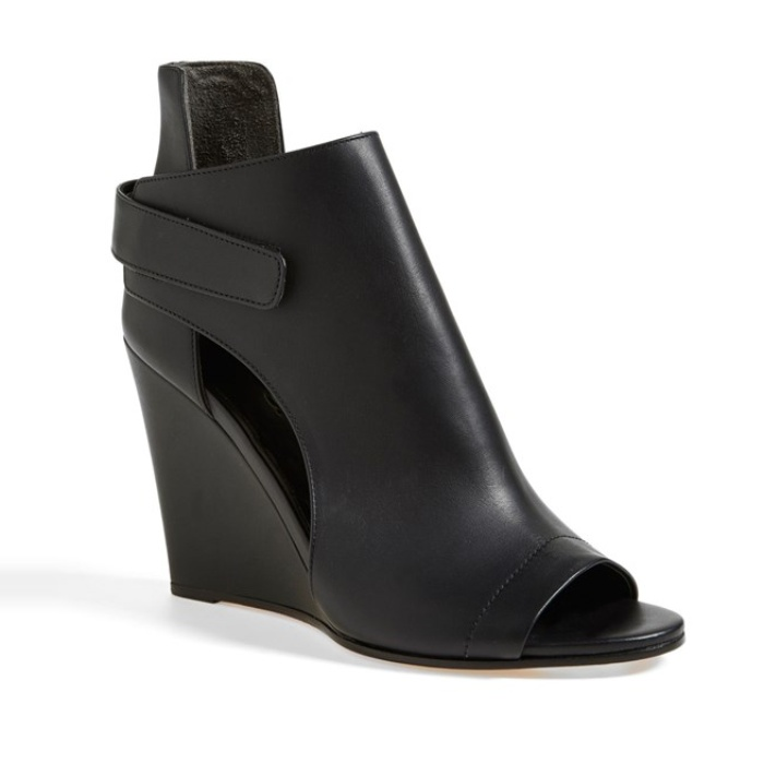 Best Peep Toe Booties - Vince 'Katia' Leather Wedge Bootie