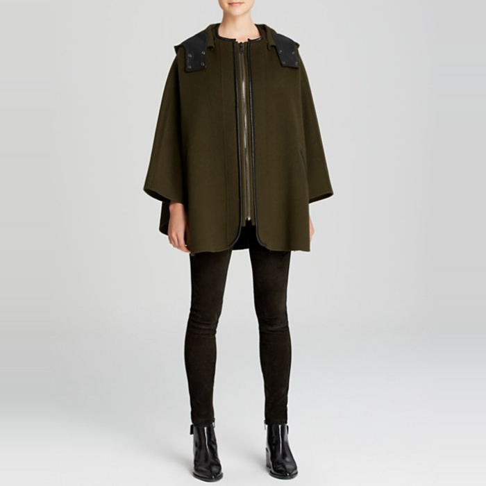 Best Fall Capes - Vince Leather-Trimmed Cape