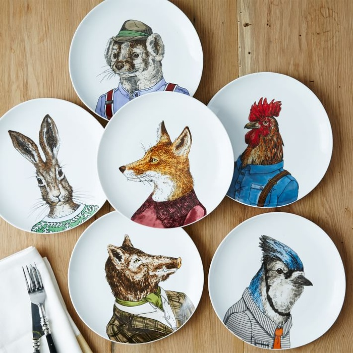 Best Hostess with Mostess Presents < $100 - West Elm Dapper Animal Plates