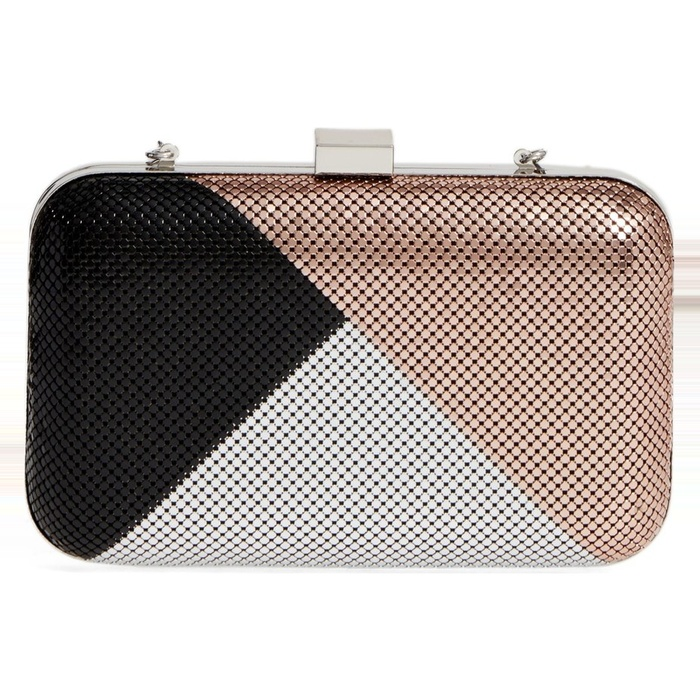 Best Statement Clutches - Whiting & Davis Color Block Mesh Box Clutch