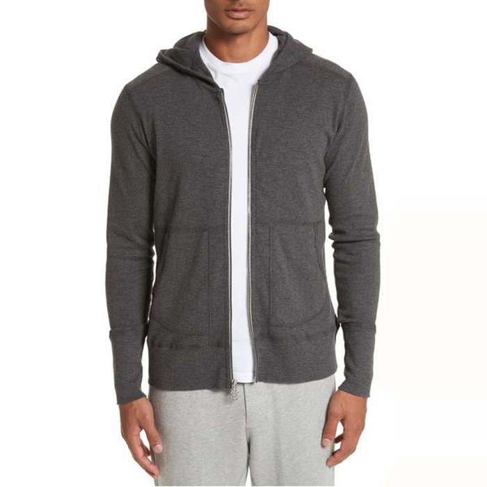 Best Men's Hoodies - wings + horns Slub Full Zip Hoodie
