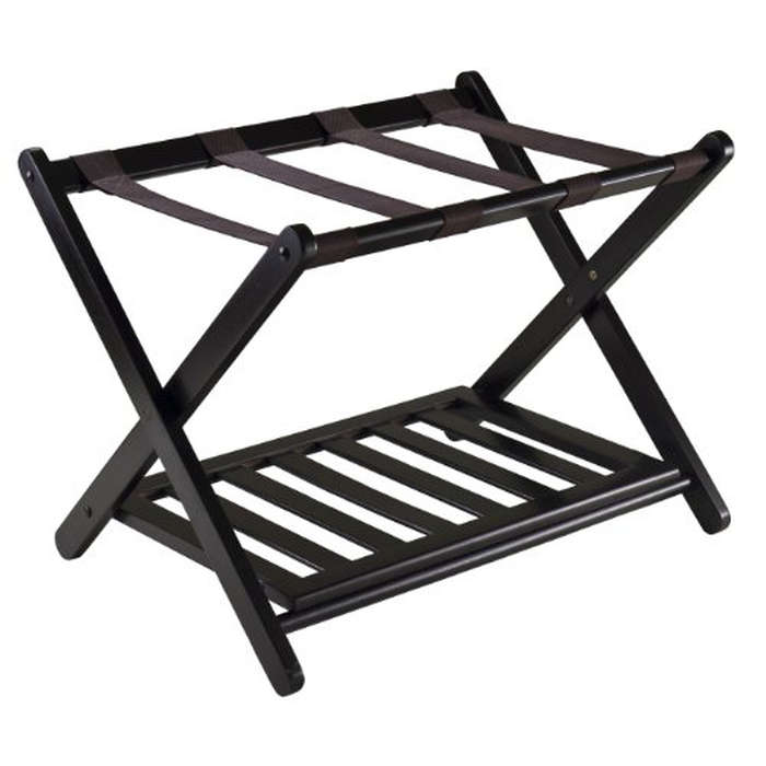 Best Guest Room Essentials - Winsome Wood Reese Luggage Rack With Shelf