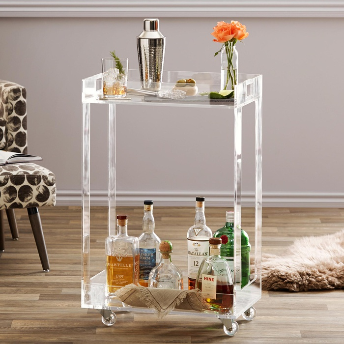 Best Bar Carts Under $200 - World Market Acrylic Bar Cart