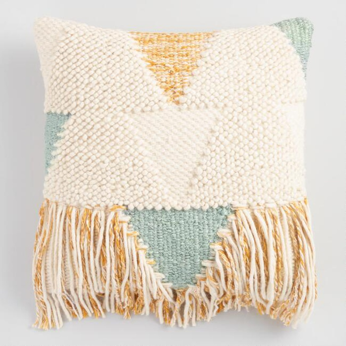 Best Throw Pillows Under $50 - World Market Boho Fringe Throw Pillow